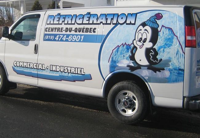 Réfrigération Centre-du-Québec – Lettrage