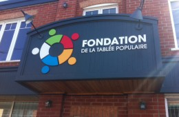 Fondation Tablée Populaire – Lettre découpée