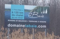 Domaine La Baie – Bannière d'autoroute