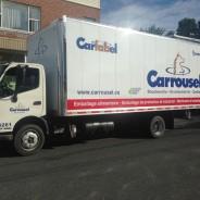Carrousel – Lettrage de cube van