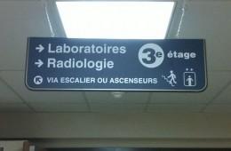 Hôpital Sainte-Croix – Signalisation