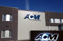 ACM – Enseigne murale lumineuse
